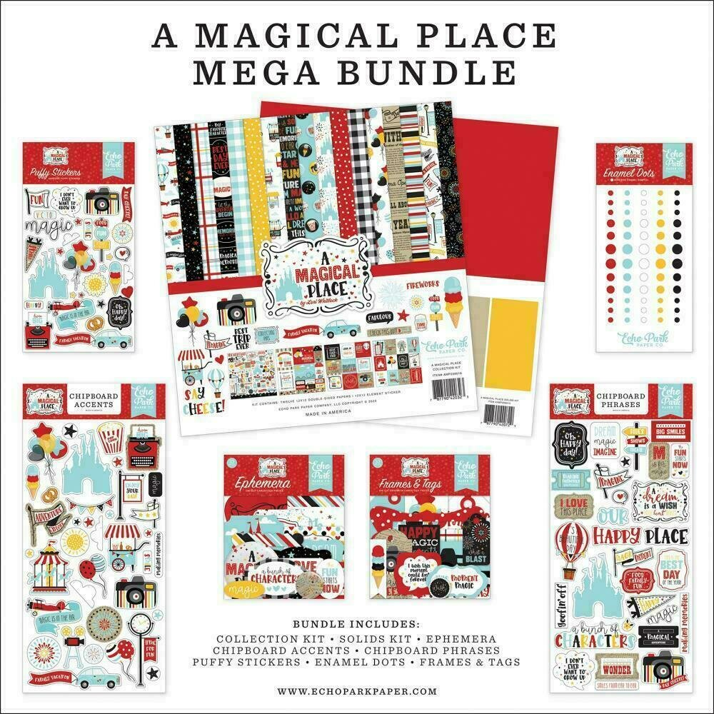 """Echo Park Mega Bundle Collection Kit 12""""X12"""" A Magical Place"""