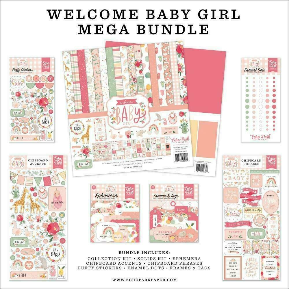 "Echo Park Mega Bundle Collection Kit 12""X12"" Welcome Baby Girl"