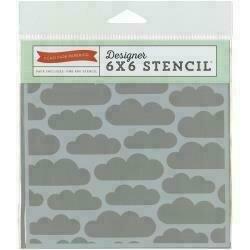 "Echo Park Stencil 6""X6"" Clouds"