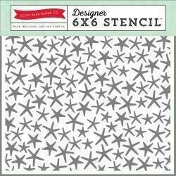 "Echo Park Stencil 6""X6"" Starfish"