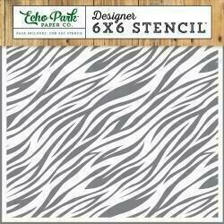 "Echo Park Stencil 6""X6"" Zebra Print"