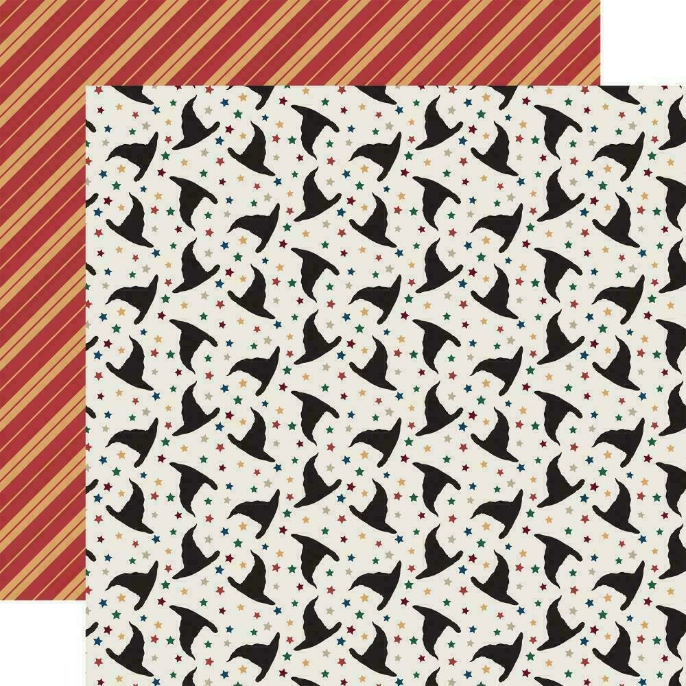"""Echo Park Witches & Wizards Double-Sided Cardstock 12""""X12"""" Magical Hats"""