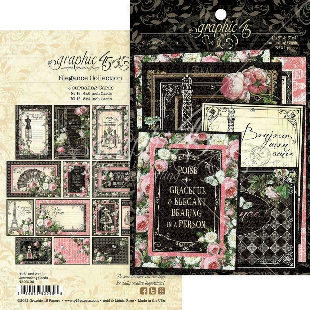 Elegance Ephemera & Journaling Cards by Graphic 45