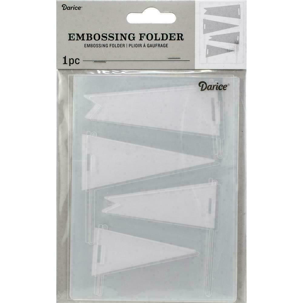 "Embossing Folder 4.25""X5.75"" by Darice Pennants"