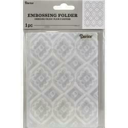 "Embossing Folder 4.25""X5.75"" by Darice Tile pattern"