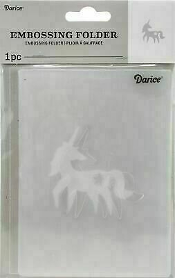 "Embossing Folder 4.25""X5.75"" by Darice Unicorn"