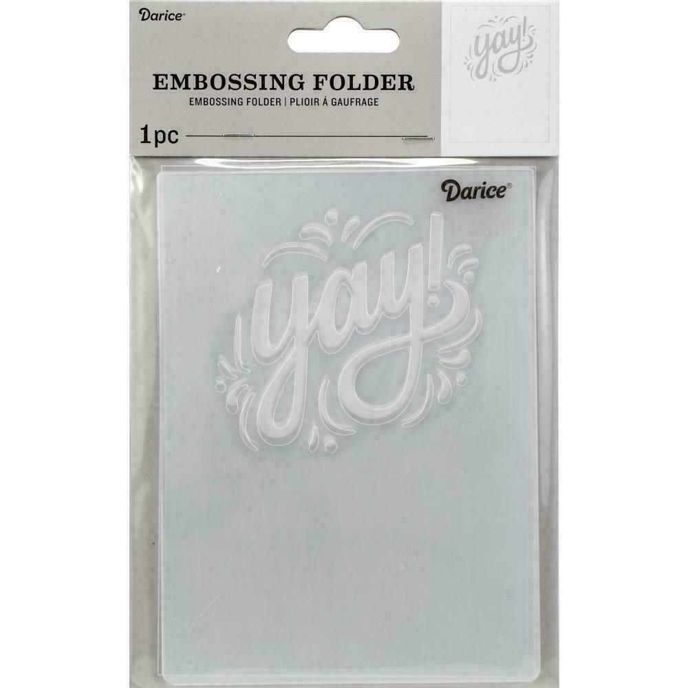"Embossing Folder 4.25""X5.75"" by Darice Yay!"