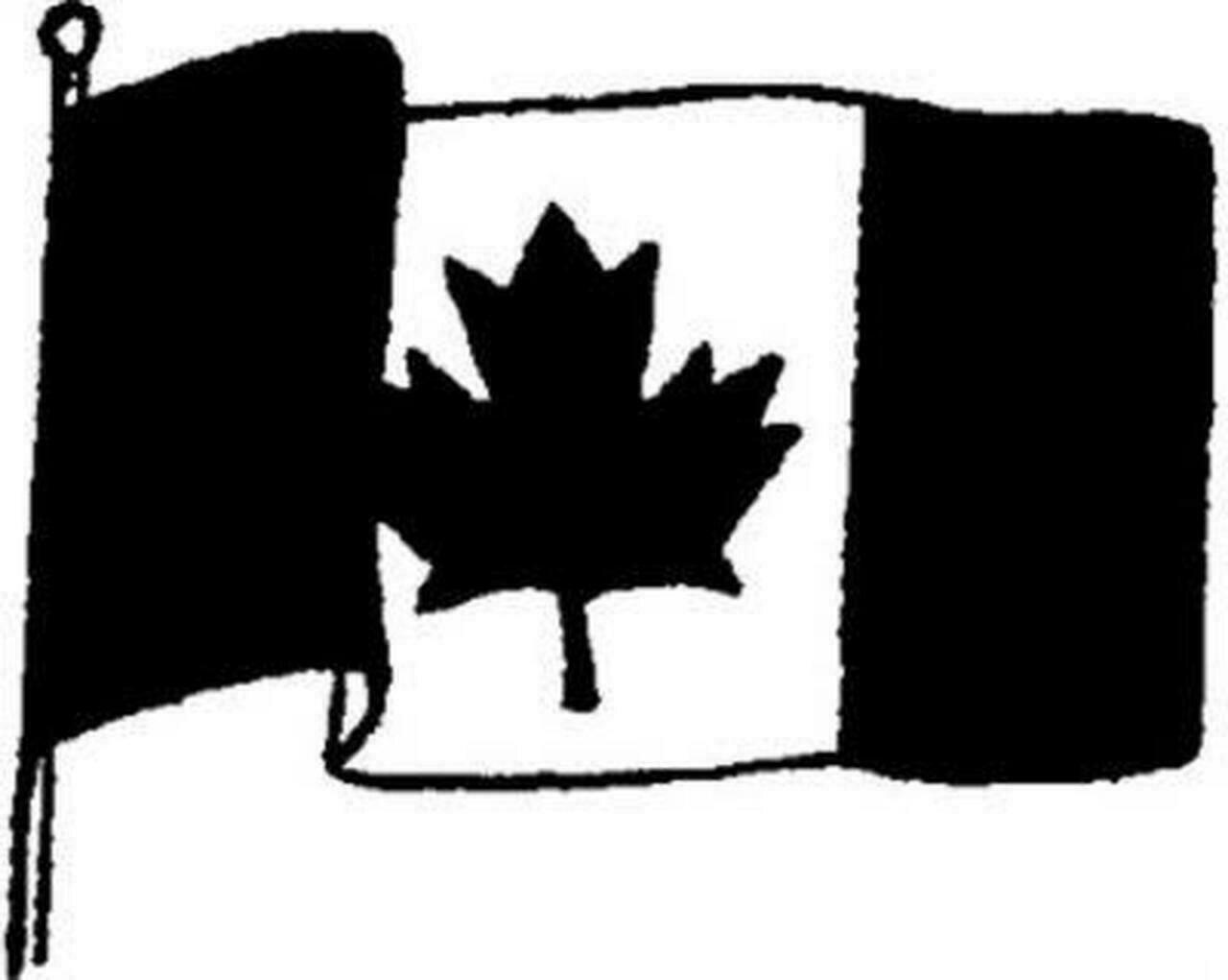 Emerald Creek Stamp - Canada Flag
