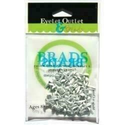 Eyelet Outlet Round Brads 4mm 70/Pkg White