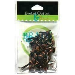 Eyelet Outlet Round Brads 8mm 40/Pkg Brushed Copper