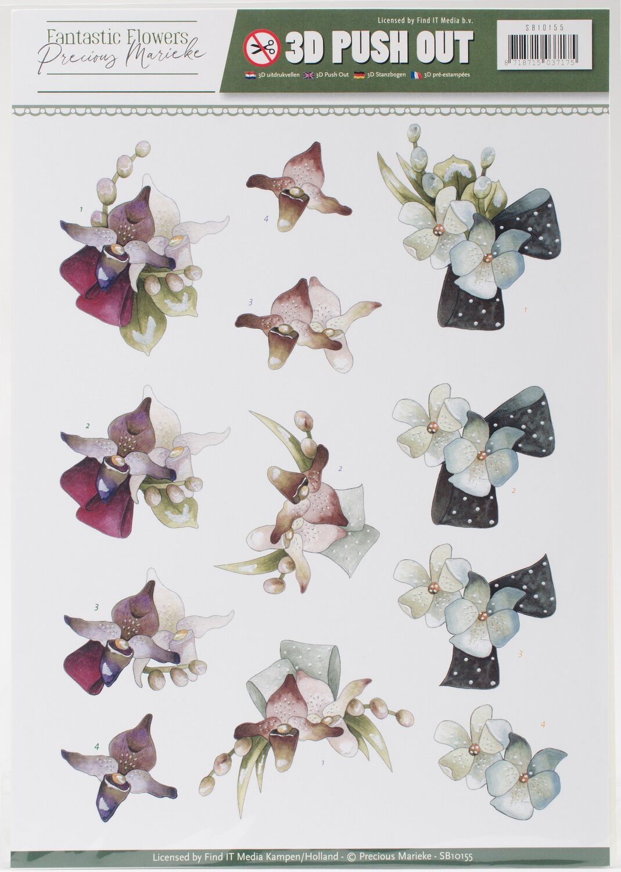 Find It Trading Precious Marieke Punchout Sheet #1 Fantastic Flowers