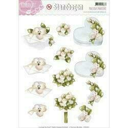 Find It Trading Precious Marieke Punchout Sheet Bouquet & Heart Romance