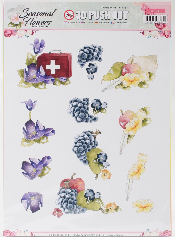 Find It Trading Precious Marieke Punchout Sheet Butterfly & Wildflower