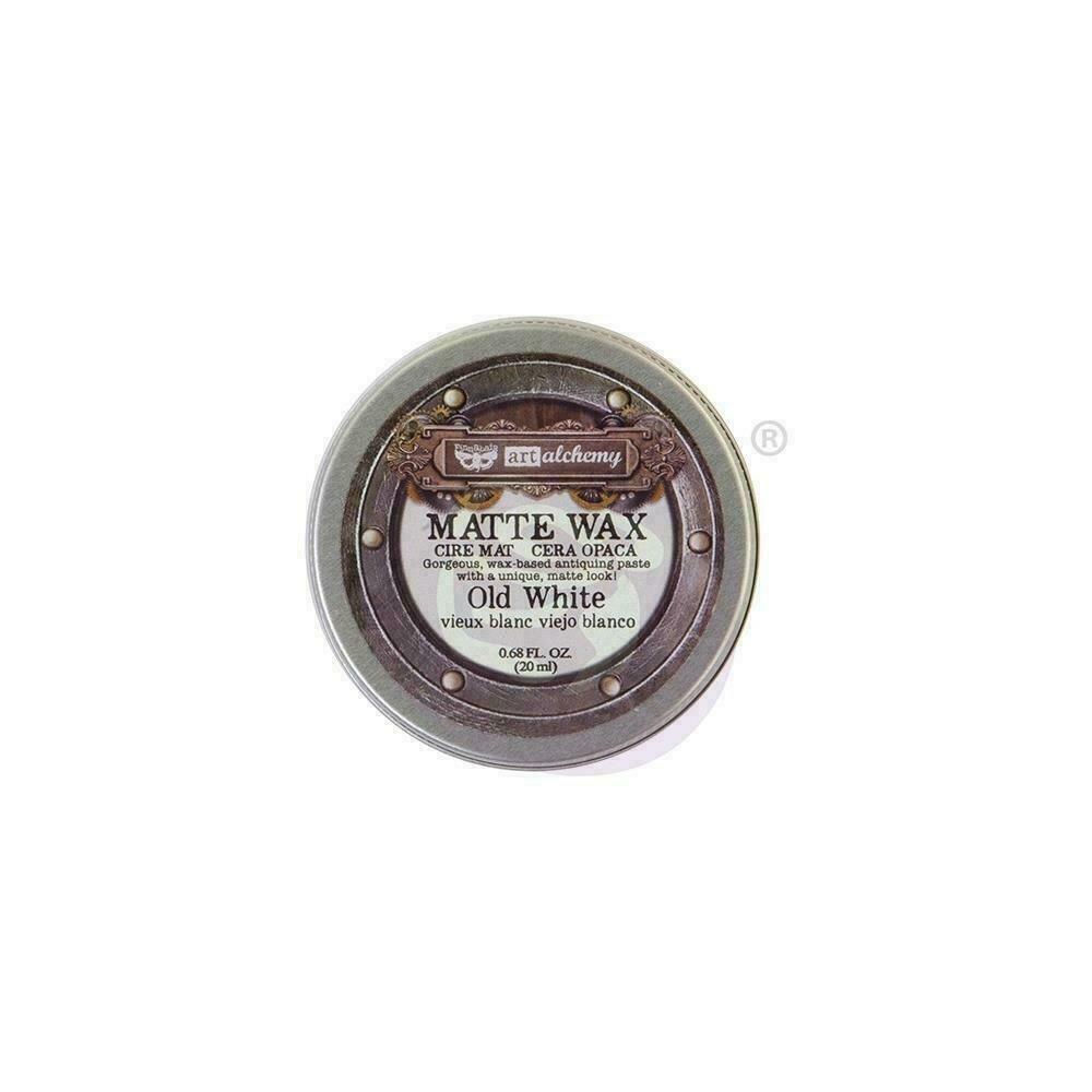 Finnabair Art Alchemy Matte Wax - Old White -  .68 Fluid Ounce