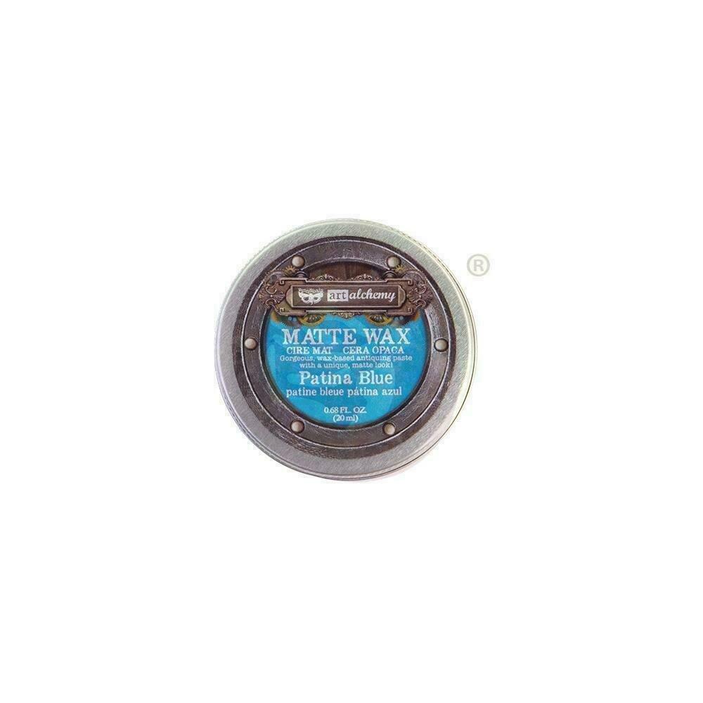 Finnabair Art Alchemy Matte Wax - Patina Blue -  .68 Fluid Ounce