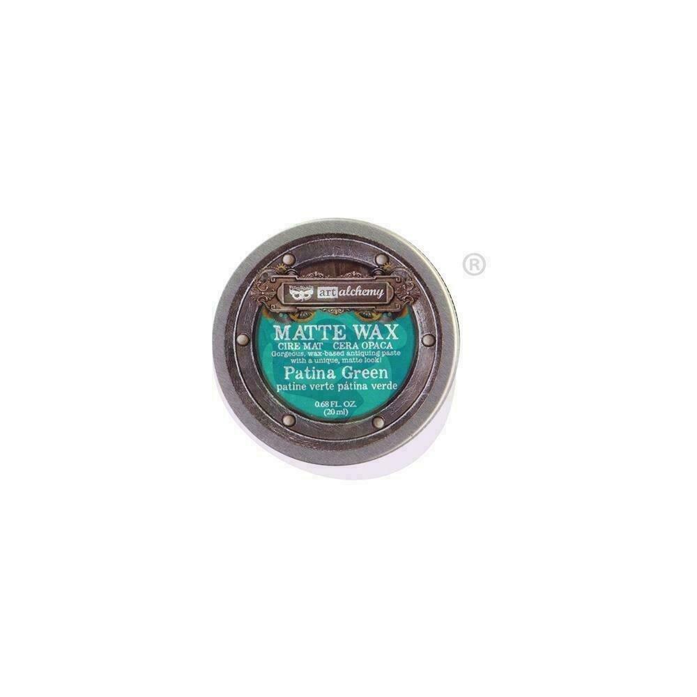 Finnabair Art Alchemy Matte Wax - Patina Green - .68 Fluid Ounce
