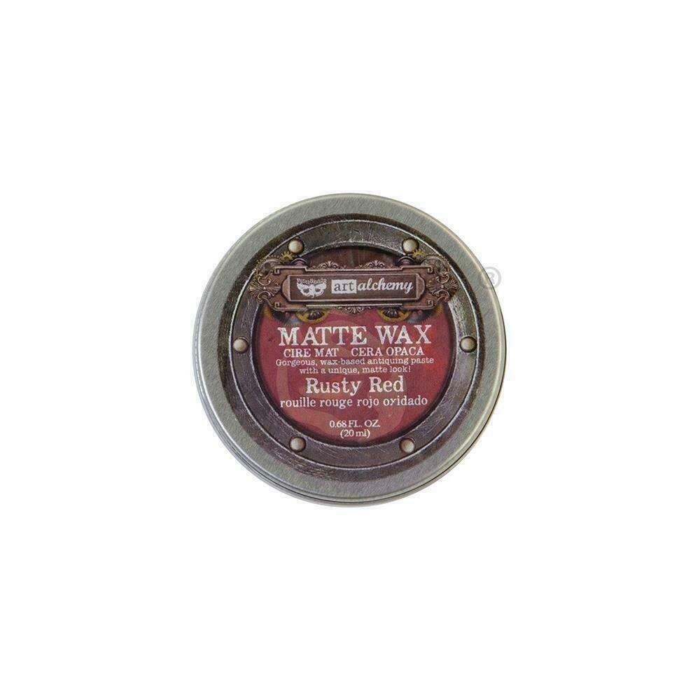 Finnabair Art Alchemy Matte Wax - Rusty Red -  .68 Fluid Ounce