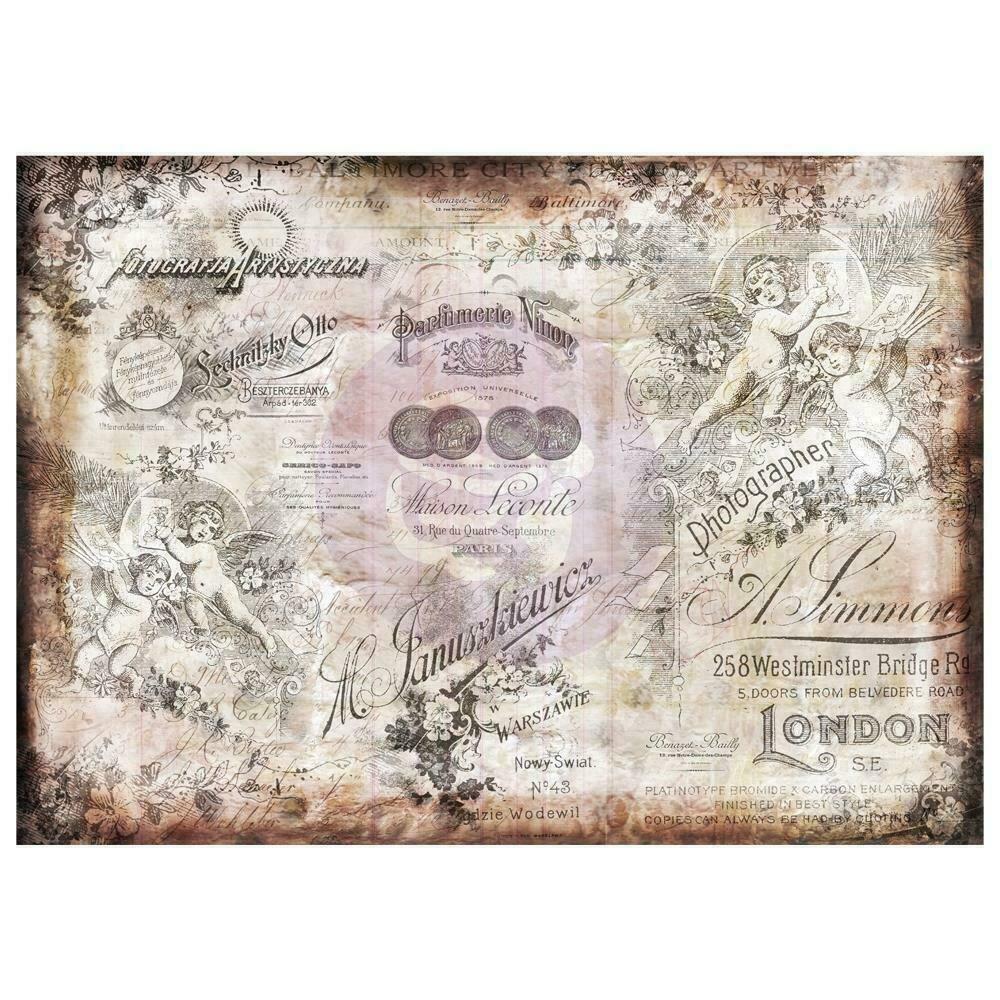 """Finnabair Mixed Media Tissue Paper - Romantica -  27.5""""X19.7"""" 6/Pkg"""