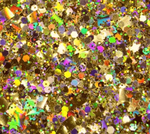 Glitter solvent resistant glitter -Gold Celebrity