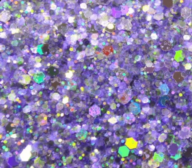Glitter solvent resistant glitter - Love Potion