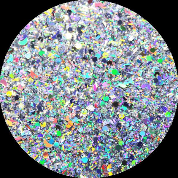 Glitter solvent resistant glitter -Runway