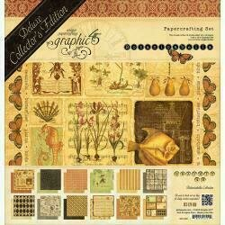 """Graphic 45 Deluxe Collector's Edition Pack 12""""X12"""" Botanicabella"""