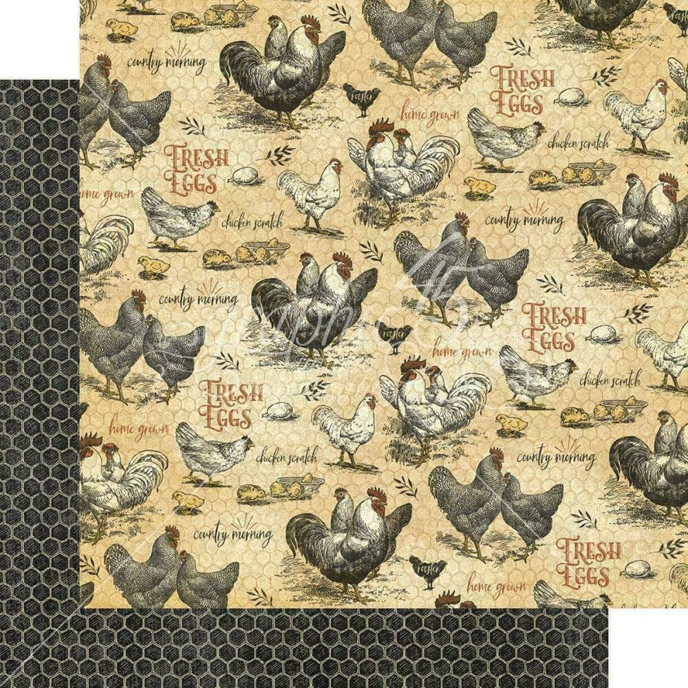 """Graphic 45 Farmhouse Double-Sided Cardstock 12""""X12"""" Locally Grown"""