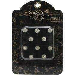 Graphic 45 Staples Ornate Metal Brads 10mm 10/Pkg Shabby Chic
