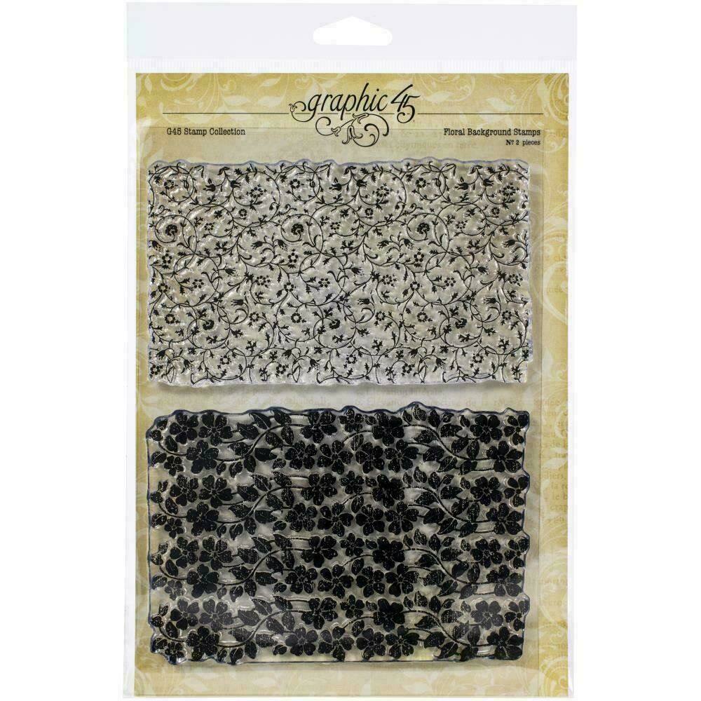 Graphic 45 Staples Stamps Floral Background