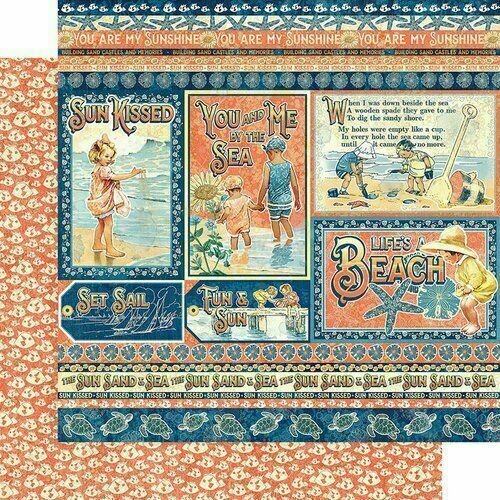 """Graphic 45 Sun Kissed Double-Sided Cardstock 12""""X12"""" Kids at Play"""