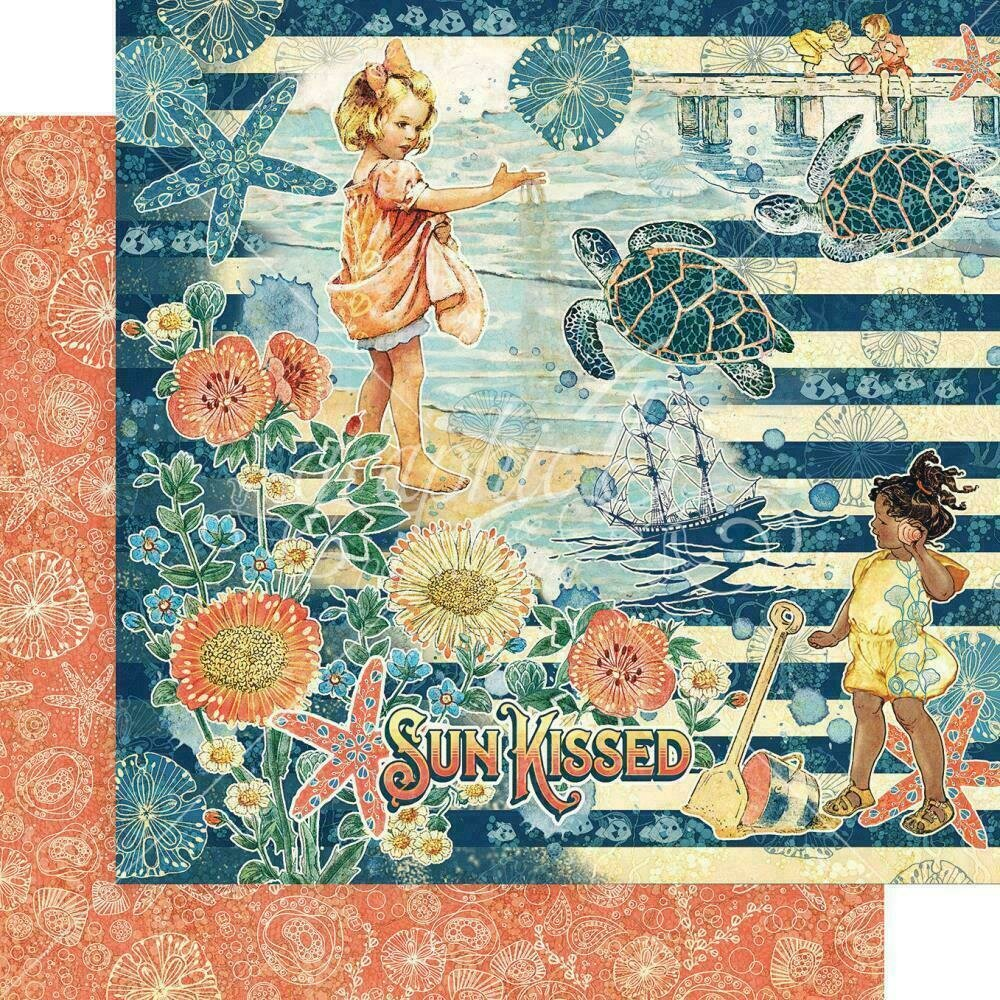 """Graphic 45 Sun Kissed Double-Sided Cardstock 12""""X12"""" Sun Kissed"""