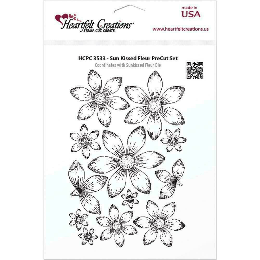 "Heartfelt Creations Cling Rubber Stamp Set 5""X6.5"" Sun Kissed Fleur"