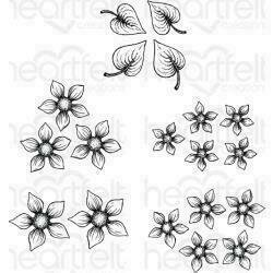 Heartfelt Creations Cling Rubber Stamp Set Purr-Fect Posies