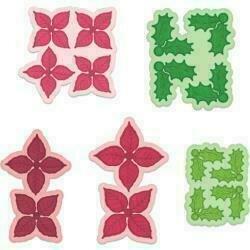 "Heartfelt Creations Cut & Emboss Dies Poinsettia & Holly 1.75"" To 3.5"""