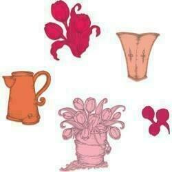 "Heartfelt Creations Cut & Emboss Dies Tulip Bouquet 1.5"" To 3.25"""