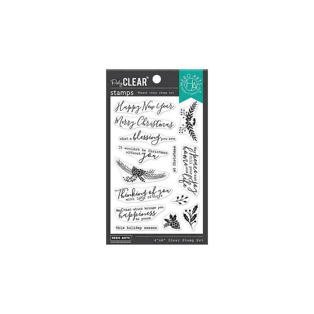"""Hero Arts Clear Stamps 4""""X6"""" Holiday Blessings"""