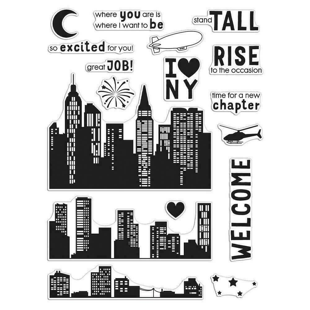 """Hero Arts Clear Stamps 6""""X8"""" City Heroscape"""