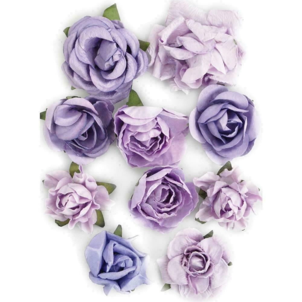 """Kaisercraft Paper Blooms 10/Pkg Amethyst 1"""" - 1.5"""""""