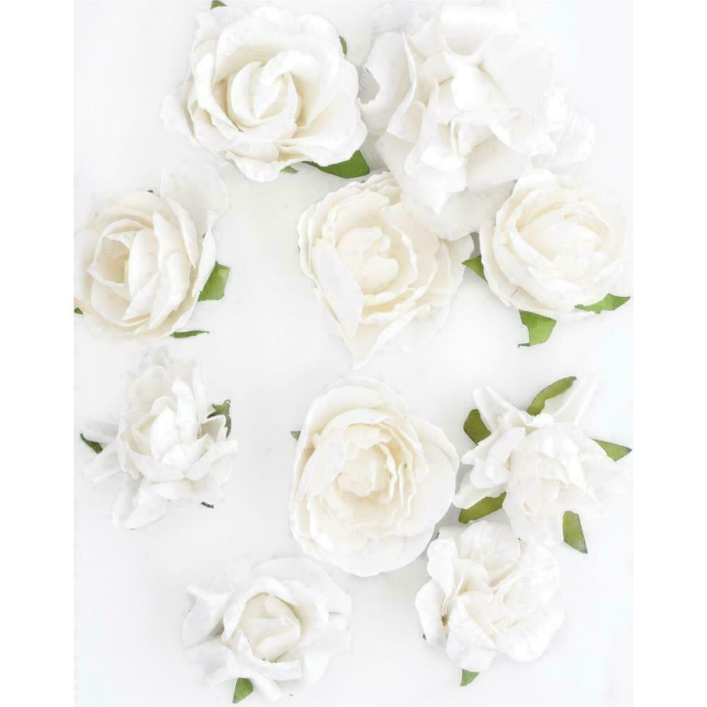 """Kaisercraft Paper Blooms 10/Pkg Coconut 1""""-1.5"""""""