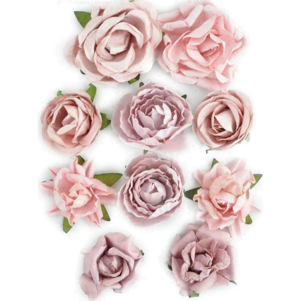 """Kaisercraft Paper Blooms 10/Pkg Dusty Pink 1"""" - 1.5"""""""