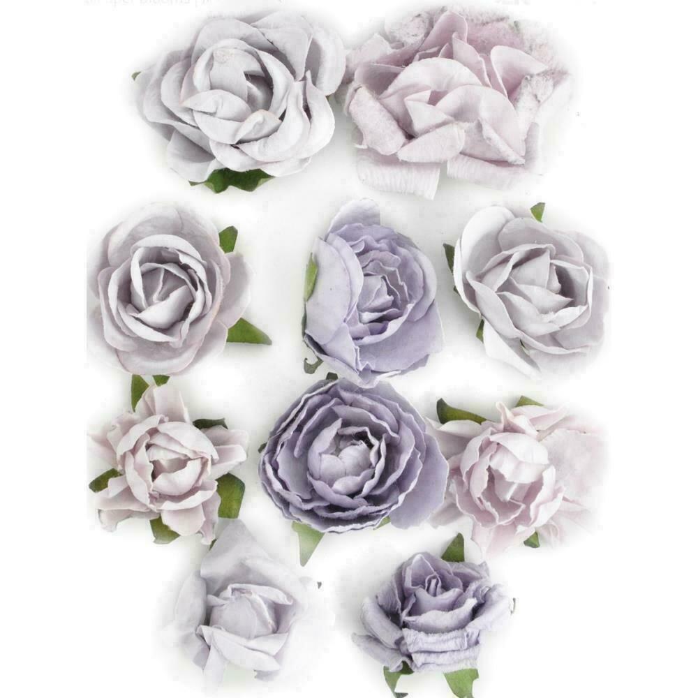 """Kaisercraft Paper Blooms 10/Pkg Misty 1"""" - 1.5"""""""