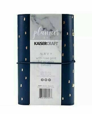 "Kaisercraft Planner 5""X7"" Navy W/Rose Gold Foil Accents"