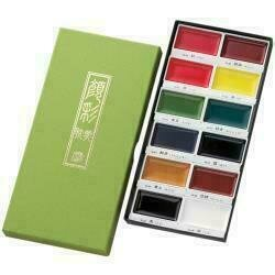Kuretake Gansai Tambi 12 Color Set Assorted Colors