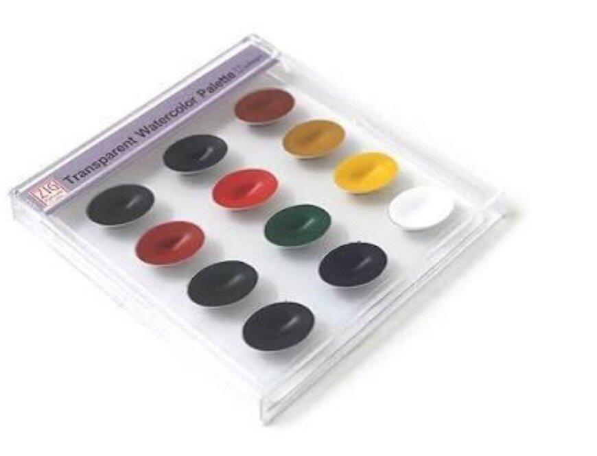 Kuretake Zig Watercolor System Transparent Palette (12 Colors)