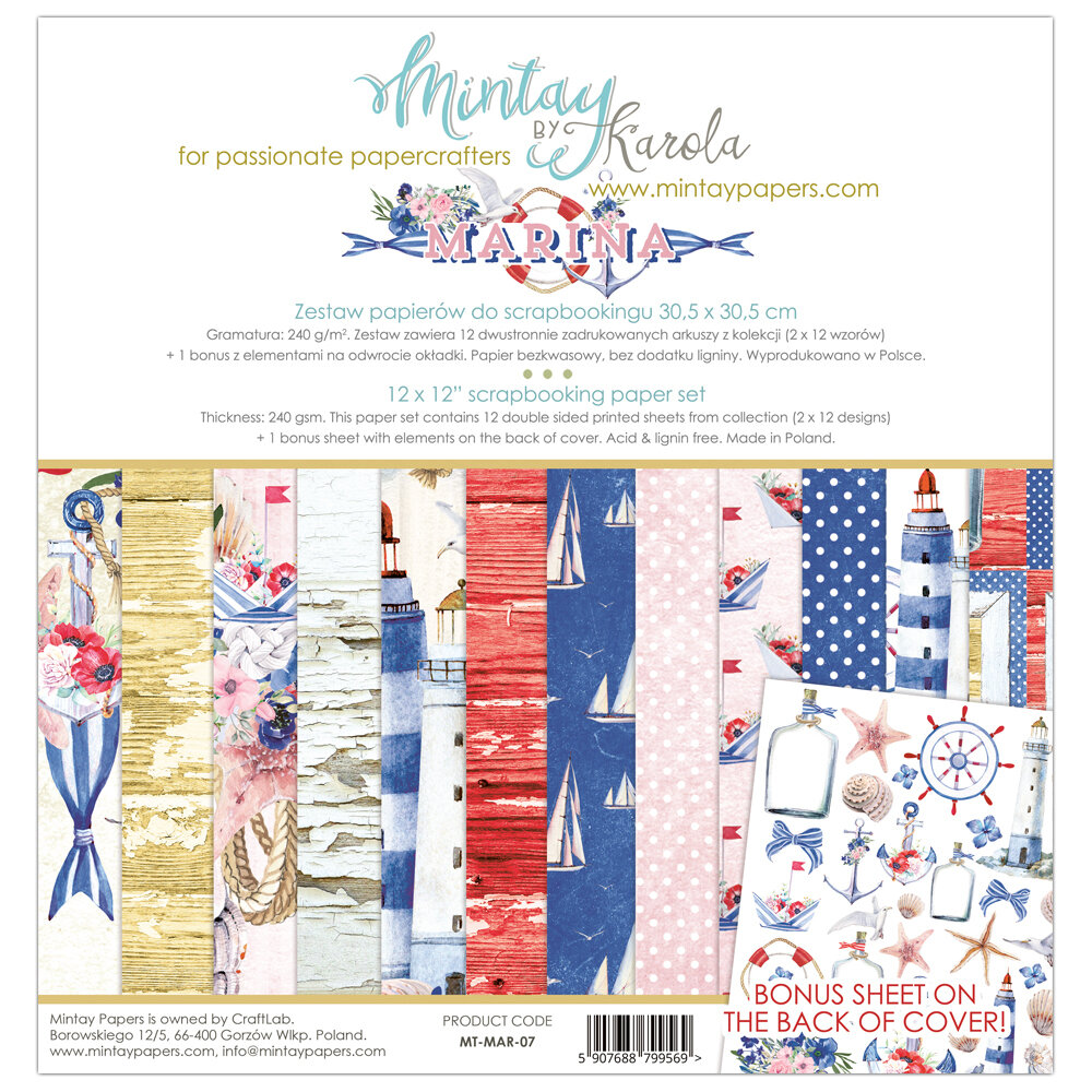 Marina by Mintay Papers 12 x 12 collection pack