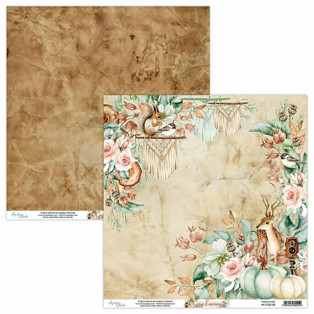 Mintay Papers COZY EVENING 12 x 12 sheet #3