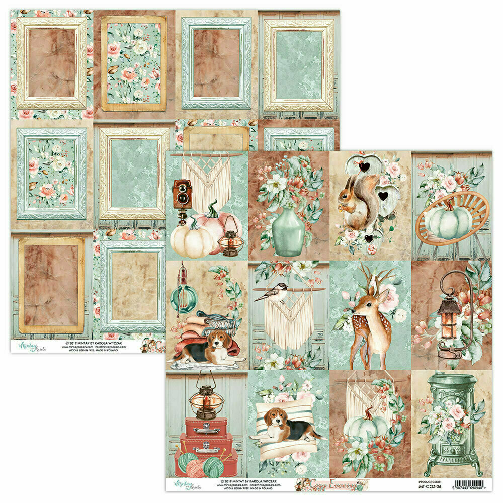 Mintay Papers COZY EVENING 12 x 12 sheet #6