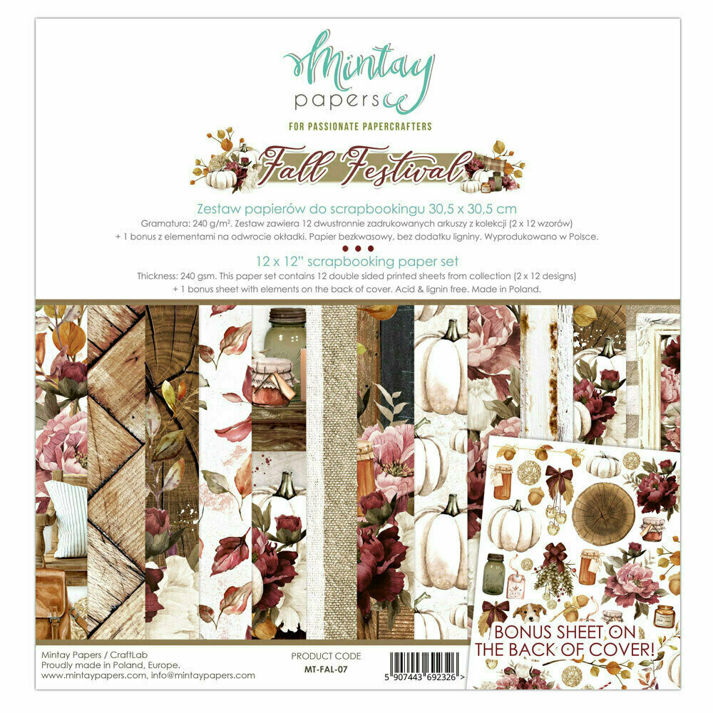 Mintay Papers FALL FESTIVAL 12 X 12 PAPER COLLECTION