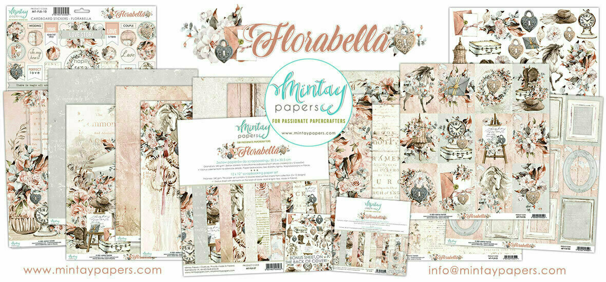 Mintay Papers Florabella 12 x 12 scrapbook set
