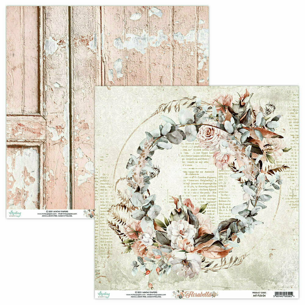 Mintay Papers Florabella 12 x 12 sheet #4